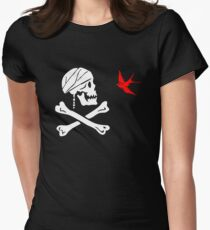 The Flag of Captain Jack Sparrow Women's Fitted T-Shirt