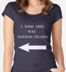 I Wish This Was Nathan Fillion Women's Fitted Scoop T-Shirt
