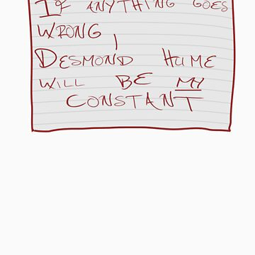 My Constant Will Be Desmond Hume by NevermoreShirts