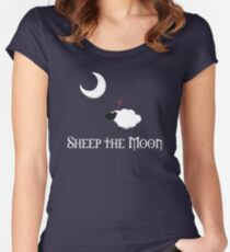Sheep the Moon Women's Fitted Scoop T-Shirt