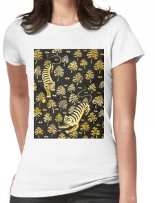 Tiger, jungle animal pattern Womens Fitted T-Shirt