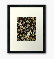Tiger, jungle animal pattern Framed Print