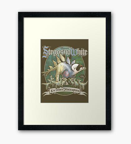 PREHISTORIC PRINCESS - StegosnoWhite & The Seven Velociraptors Framed Print
