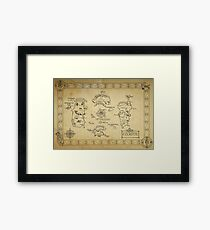Azeroth map - old hand drawn Framed Print