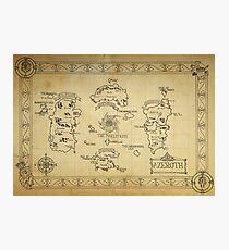 Azeroth map - old hand drawn Photographic Print
