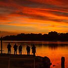 Waiting for the shot by Dave  Hartley