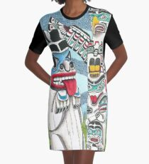 Totem Talk Graphic T-Shirt Dress
