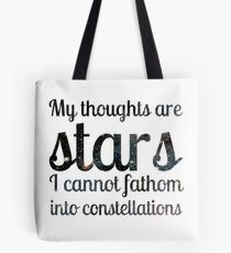 The Fault in Our Stars - My Thoughts Tote Bag