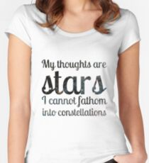 The Fault in Our Stars - My Thoughts Women's Fitted Scoop T-Shirt