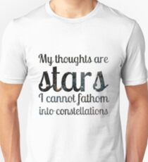 The Fault in Our Stars - My Thoughts Unisex T-Shirt