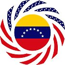 Venezuelan American Multinational Patriot Flag Series by Carbon-Fibre Media