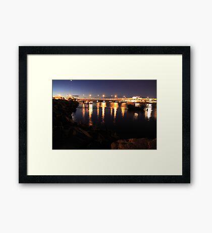 Light Bridge Framed Print