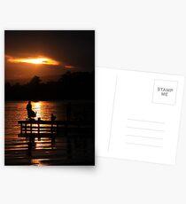 Fishing at dusk Postcards