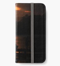 Fishing at dusk iPhone Wallet/Case/Skin