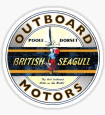 British Seagull Outboard Motors England Sticker