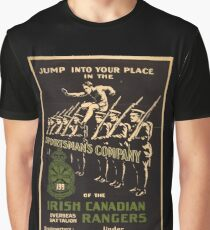 'Irish Canadian Ranger' Vintage Poster (Reproduction) Graphic T-Shirt