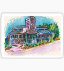 Cool Vintage/Retro Diner  Sticker