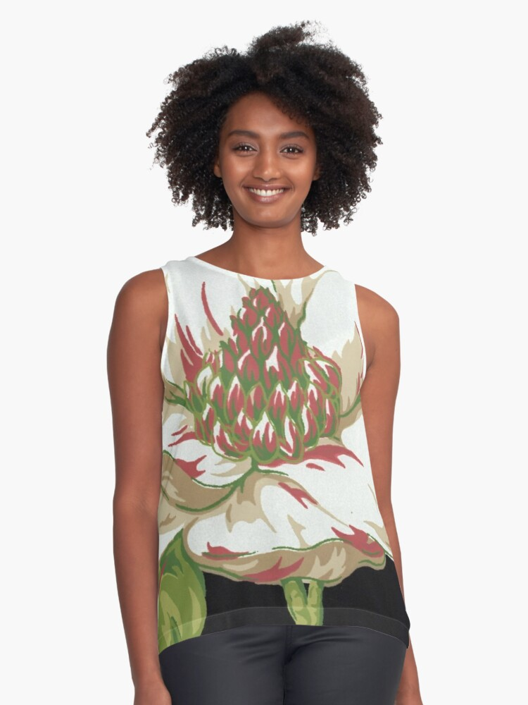 Sweet Magnolia #2 Contrast Tank Front