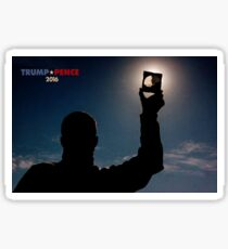 Trump + Pence 2016. Eclipse Of The Mind. Sticker