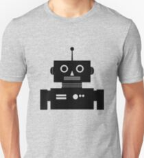 Retro Robot Shape BLK T-Shirt