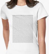 script Women's Fitted T-Shirt