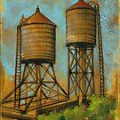 Water Towers 2 by Eva Crawford
