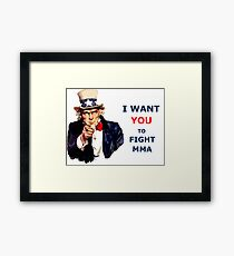 Uncle Sam I want you to Fight MMA Framed Print