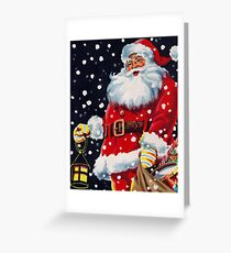 Vintage Christmas Santa Greeting Card