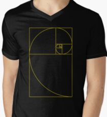 Golden Spiral Sacred Geometry Men's V-Neck T-Shirt