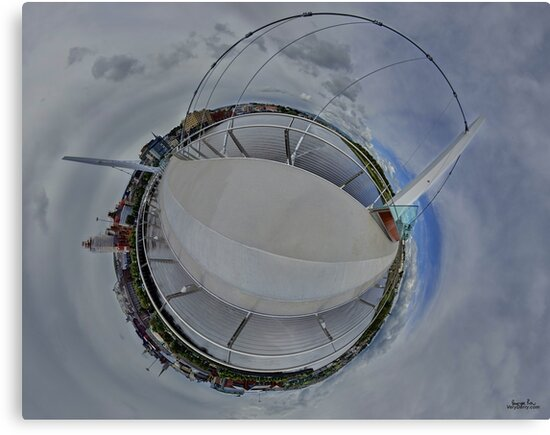 Peace Bridge Panorama - River Foyle, Derry by George Row