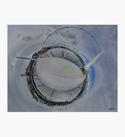 Peace Bridge Panorama - River Foyle, Derry Photographic Print