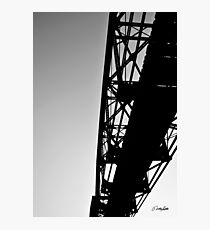 Sky Bridge BW Photographic Print