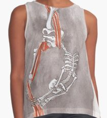 Skeleton doing Aerial Silks Contrast Tank