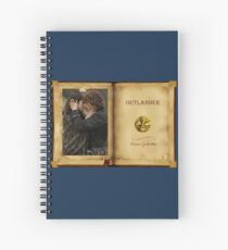Outlander book with Jamie and Claire Spiral Notebook