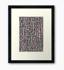 200515 - Black and Soft Pink on White Framed Print