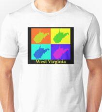 Colorful West Virginia Pop Art Map T-Shirt