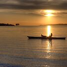 Kayak sunset by Dawne Olson