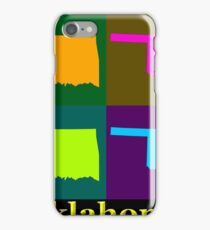 Colorful Oklahoma State Pop Art Map iPhone Case/Skin