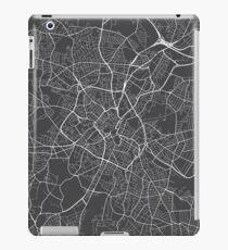 Birmingham Map, England - Gray iPad Case/Skin