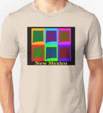 Colorful New Mexico Pop Art Map T-Shirt