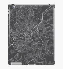 Bristol Map, England - Gray iPad Case/Skin