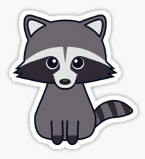 Cute Racoon Sticker