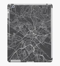 Leeds Map, England - Gray iPad Case/Skin