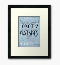 Party at Gatsby's Invitation Gerahmtes Wandbild