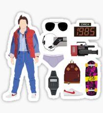 Pegatina Regreso al futuro: Time Traveler Essentials 1985