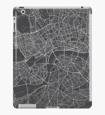 London Map, England - Gray iPad Case/Skin