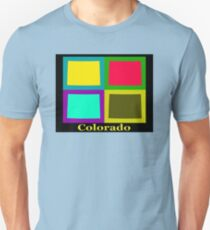 Colorful Colorado State Pop Art Map T-Shirt