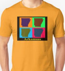 Colorful Arkansas State Pop Art Map T-Shirt