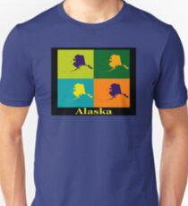 Colorful Alaska State Pop Art Map T-Shirt