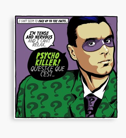 Post-Punk Psycho Canvas Print